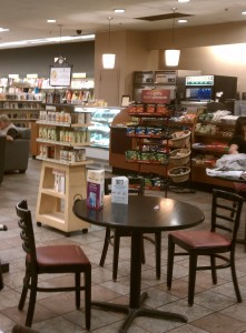 My office at the bookstore cafe